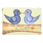 Pájaros del amor (azules) iPad mini carcasa