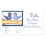 Pájaros del amor (azules) tarjetas de negocios