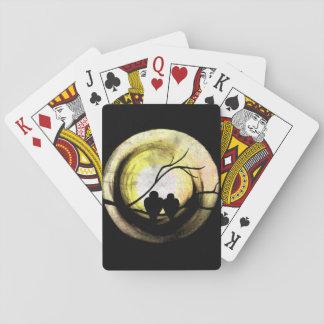 Pájaros del amor cartas de póquer