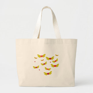 Pájaros del amor bolsas lienzo