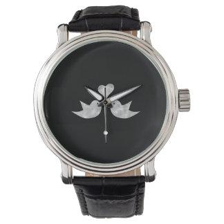 Pájaros del amor con color del personalizado del relojes