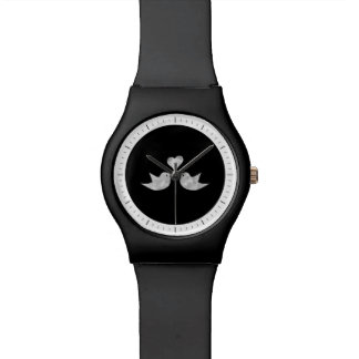 Pájaros del amor con color del personalizado del reloj de mano