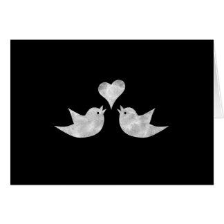 Pájaros del amor con color del personalizado del tarjeta de felicitación