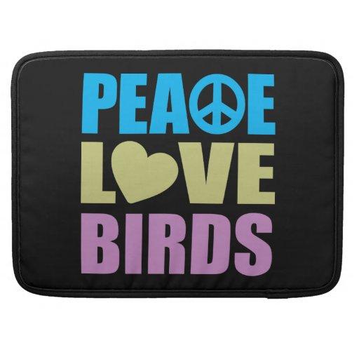 Pájaros del amor de la paz funda macbook pro