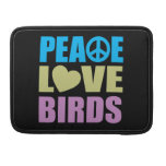 Pájaros del amor de la paz funda para macbooks