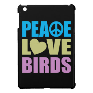 Pájaros del amor de la paz iPad mini cárcasas