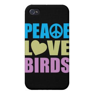 Pájaros del amor de la paz iPhone 4 cobertura