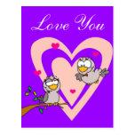 Pájaros del amor de la tarjeta del día de San Postal