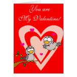 Pájaros del amor de la tarjeta del día de San Vale