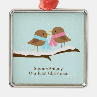 Pájaros del amor ornaments para arbol de navidad