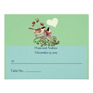 Pájaros del amor del Chickadee de RSVP que casan l