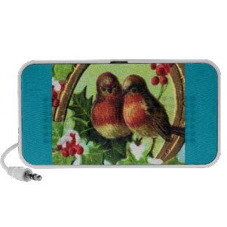 Pájaros del amor del día de fiesta iPod altavoz