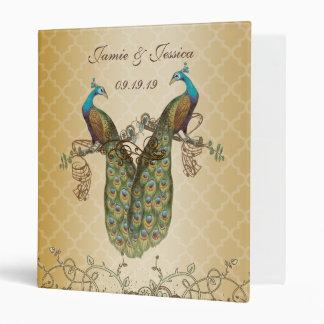Pájaros del amor del vintage de la carpeta del