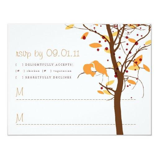 Pájaros del amor en el árbol - otoño comunicado personal