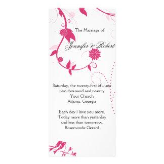 Pájaros del amor en programa rosado y blanco del b diseños de tarjetas publicitarias