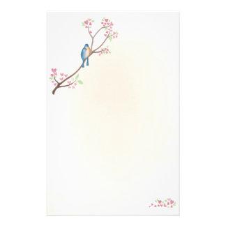 Pájaros del amor inmóviles papelería de diseño