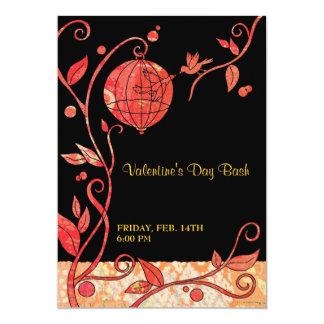 Pájaros del amor: Invitaciones lindas del fiesta Invitación 12,7 X 17,8 Cm