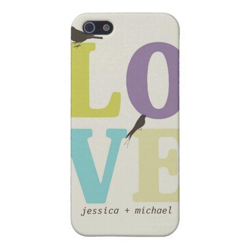 Pájaros del amor iPhone 5 cárcasas