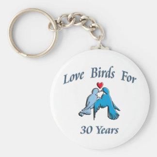 Pájaros del amor llavero redondo tipo pin