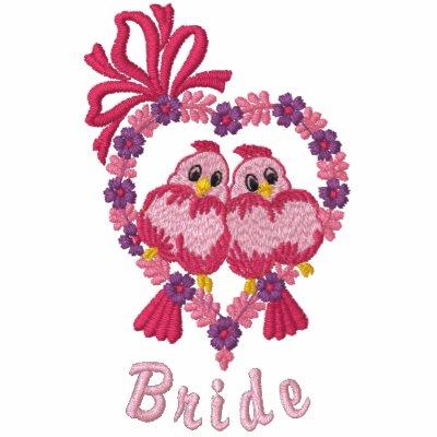 Pájaros del amor - novia chaqueta bordada de entrenamiento