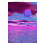 Pájaros del amor - pasión rosada y púrpura abstrac tarjetas