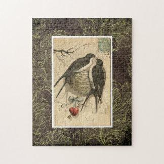 Pájaros del amor puzzle con fotos