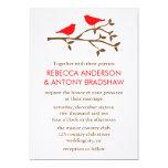 Pájaros del amor que casan invitaciones anuncios personalizados