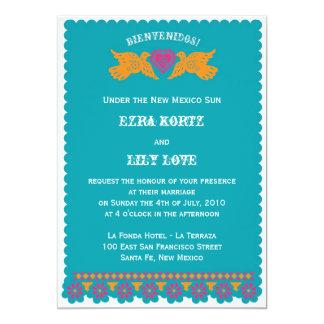 Pájaros del amor que casan la invitación -