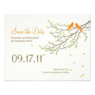 Pájaros del amor que casan reserva la fecha en nar comunicados