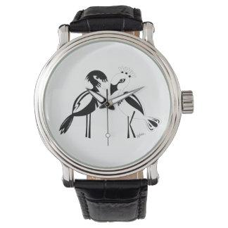 Pájaros del amor relojes