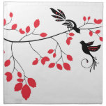 Pájaros del amor servilletas imprimidas