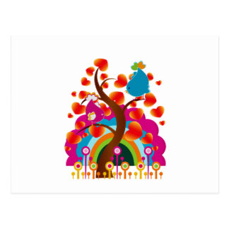 Pájaros del amor tarjeta postal
