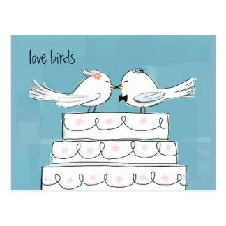 Pájaros del amor tarjetas postales