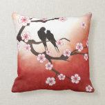 Pájaros del amor y almohada de Sakura