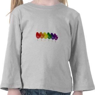 Pájaros del arco iris del vintage camisetas
