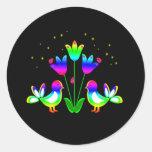 Pájaros del arco iris y pegatinas de los tulipanes