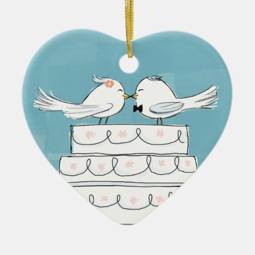 Pájaros del boda adornos