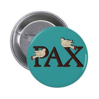 Pájaros del botón del Pax paz Pin
