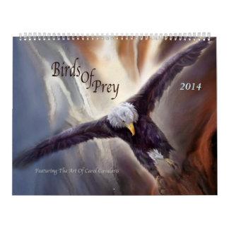 Pájaros del calendario 2014 del arte de la presa