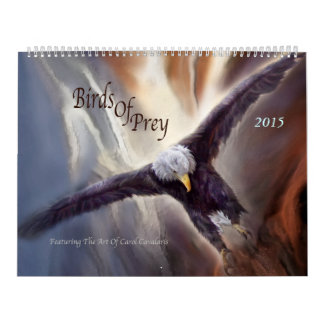 Pájaros del calendario 2015 del arte de la presa