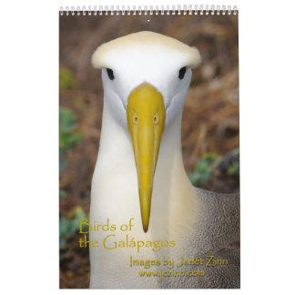 Pájaros del calendario de las Islas Galápagos