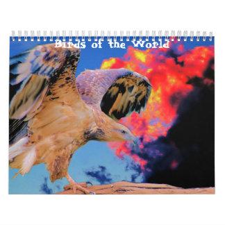 Pájaros del calendario de mundo