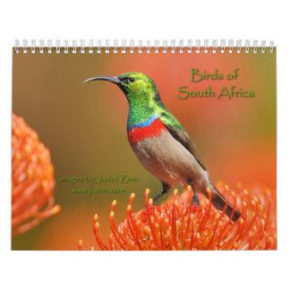Pájaros del calendario de Suráfrica 2015