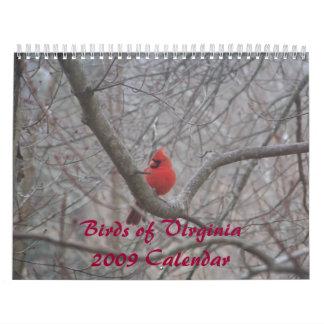 Pájaros del calendario Virginia2009