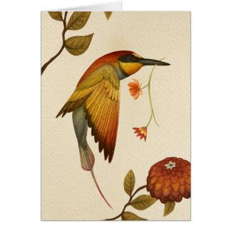 Pájaros del Chinoiserie - tarjeta de felicitación