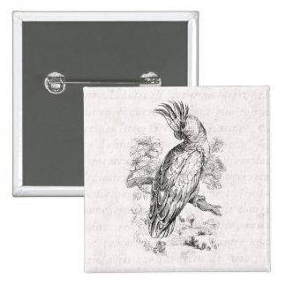 Pájaros del Cockatiel del pájaro del loro de Cocka Pin Cuadrada 5 Cm