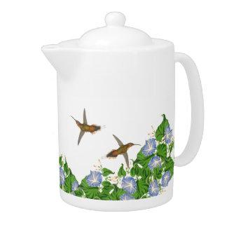 Pájaros del colibrí y flores florales de la