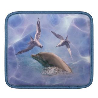 Pájaros del delfín y del salto funda para iPads