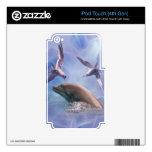 Pájaros del delfín y del salto iPod touch 4G calcomanías