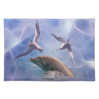 Pájaros del delfín y del salto mantel individual